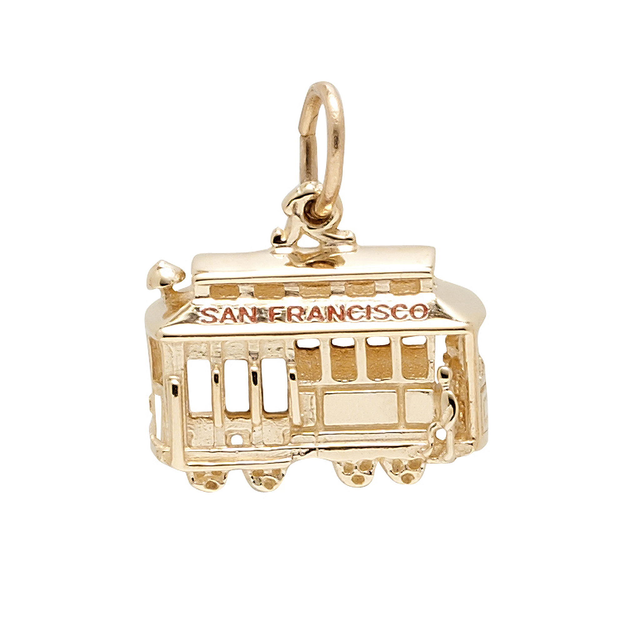 Cable Car Charm, Gold