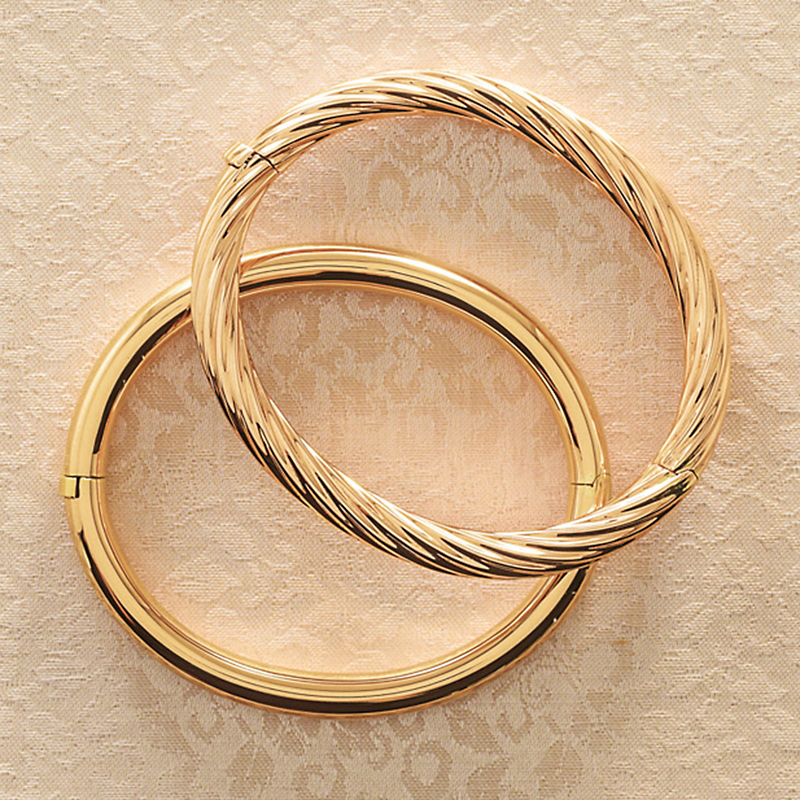 Gold Hinged Bangles