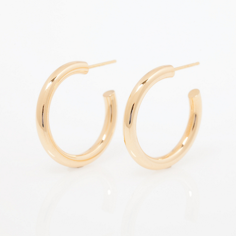 Tubular Hoop Earrings, Medium