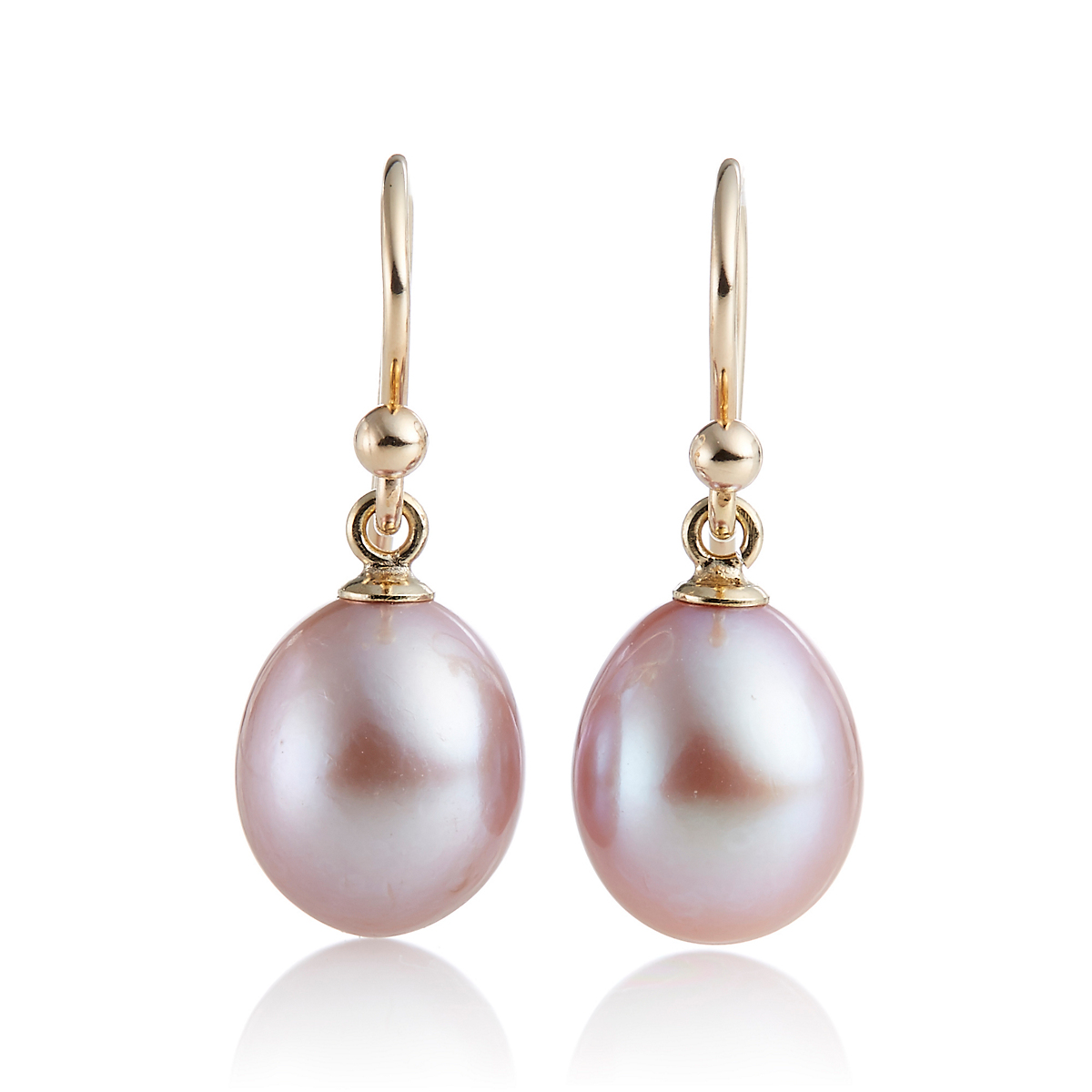 Gump's Pink Freshwater Cultured Pearl Drop Earrings