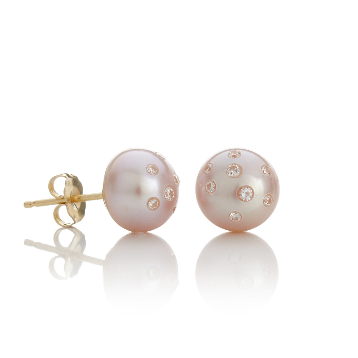 Russell Trusso Pink Coin Pearl Earrings, Small