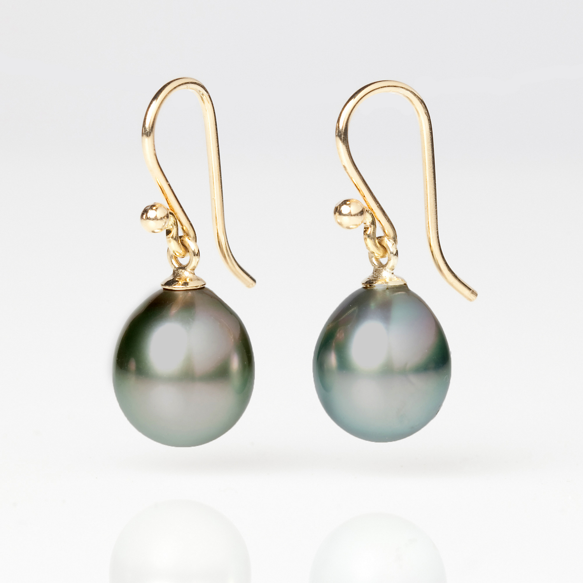 Gump's Grey Tahitian Pearl Drop Earrings