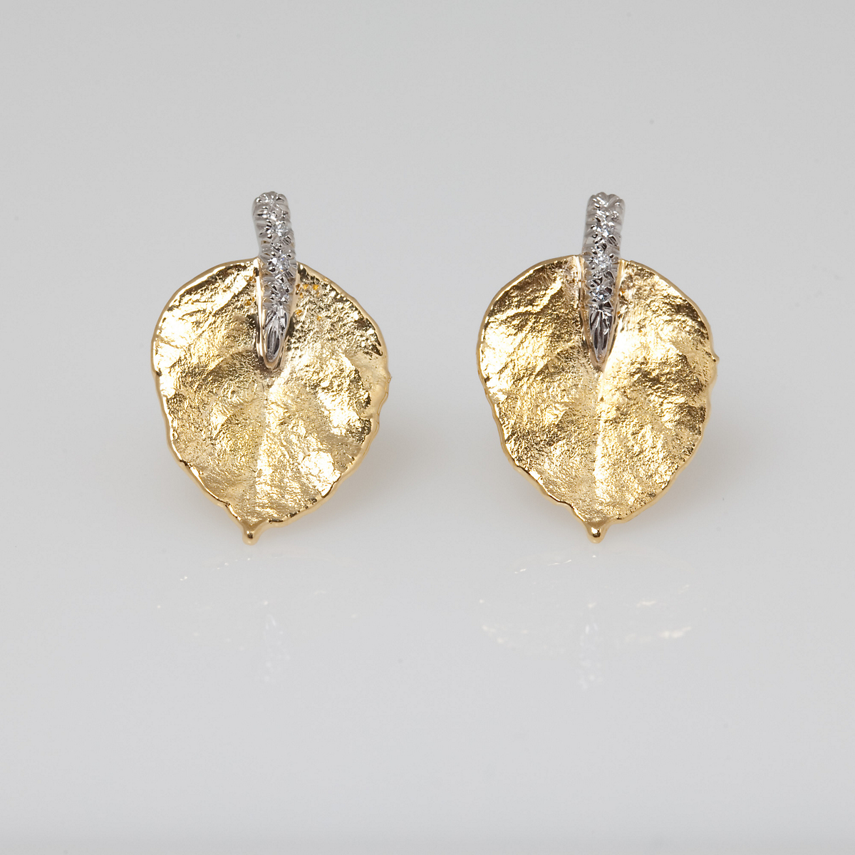 Aaron Henry Aspen Leaf Earrings