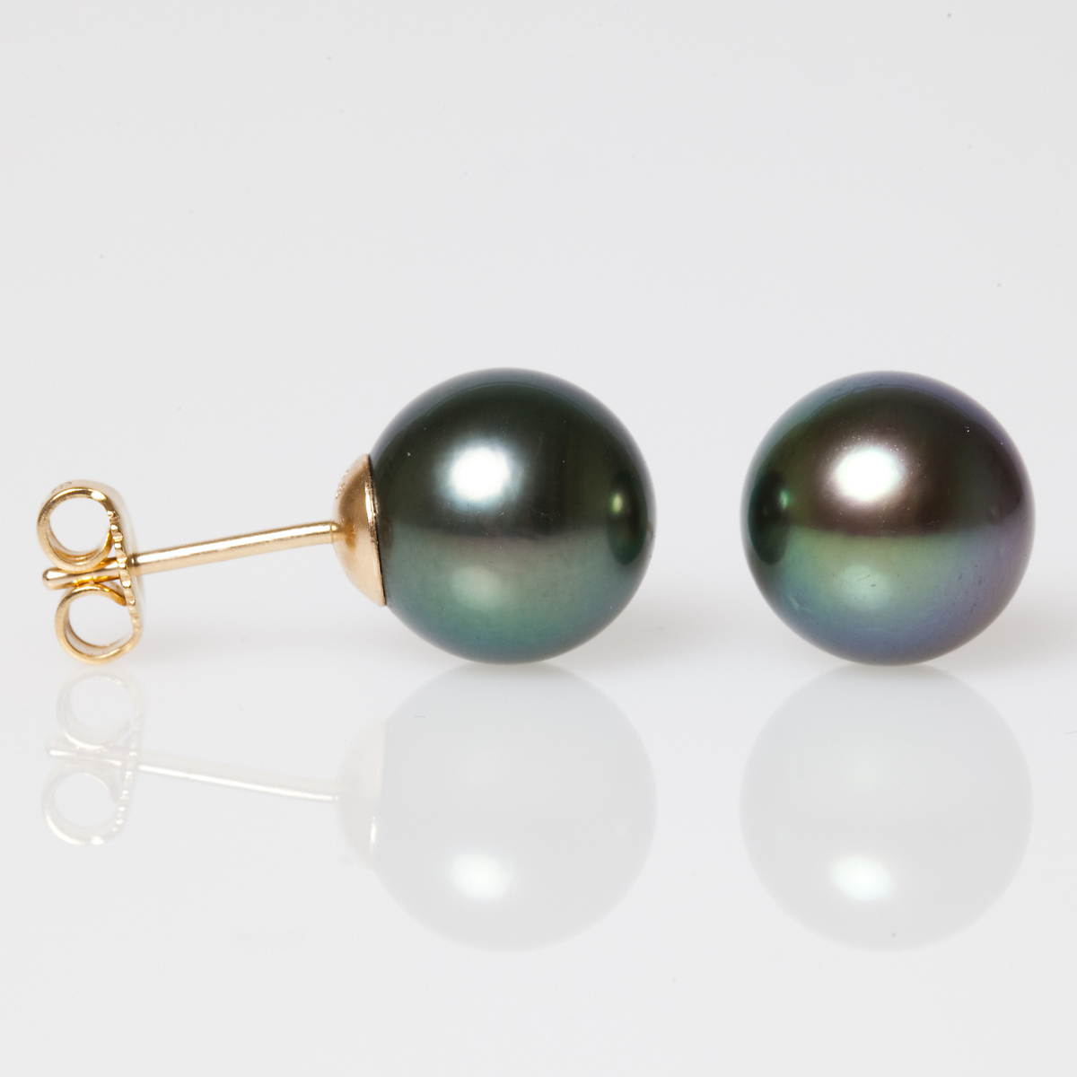 Gump's Black Tahitian Pearl Earrings