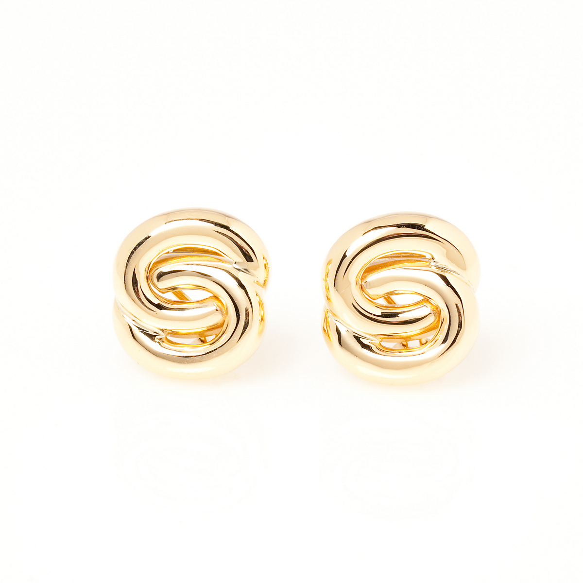 Interlocking Oval Earrings