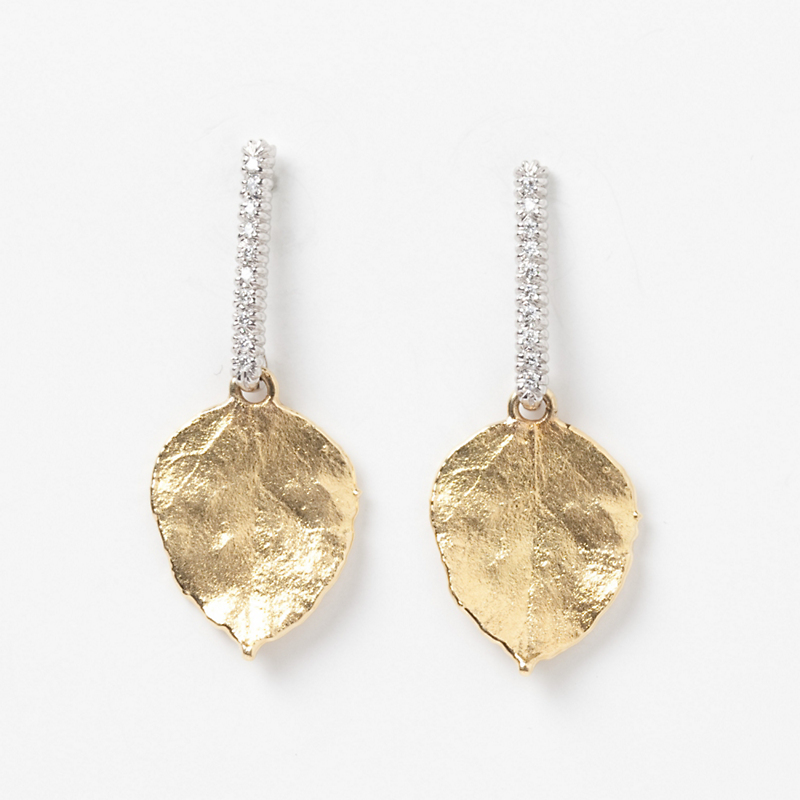 Aaron Henry Aspen Leaf Drop Earrings