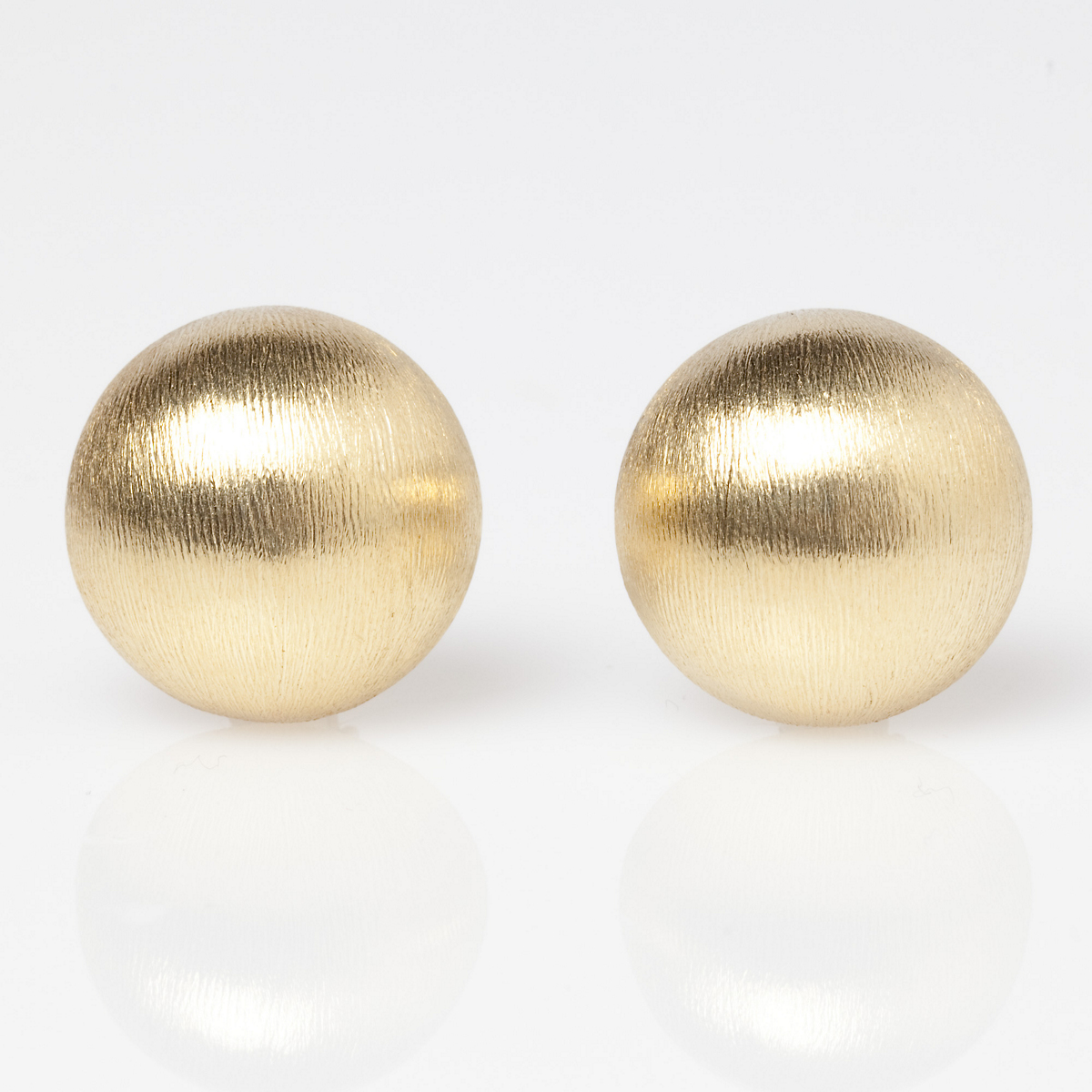Brushed Gold Dome Earrings