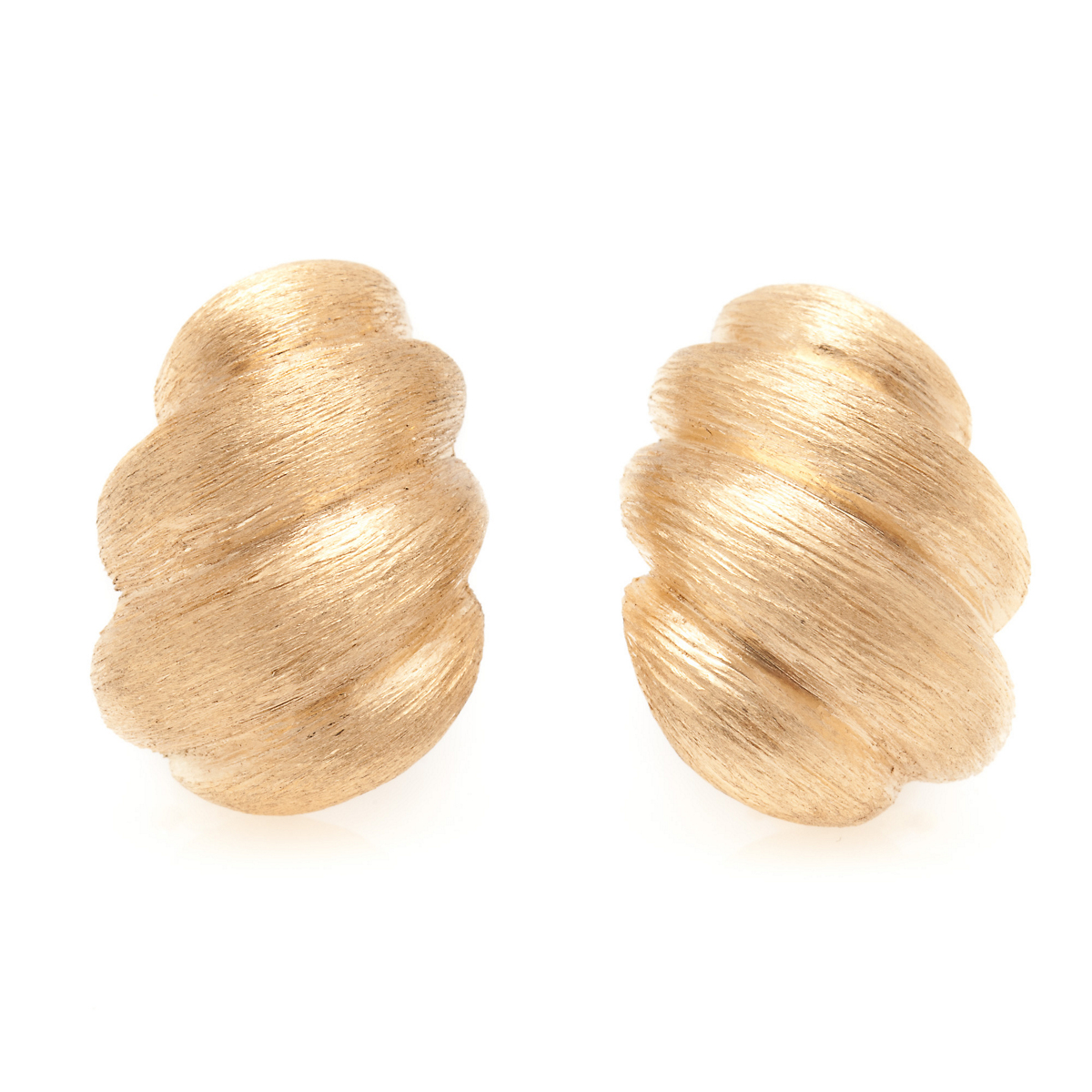 Textured Swirl Earrings