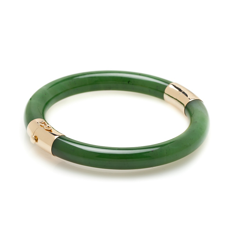 Gump's Green Nephrite Jade Bangle