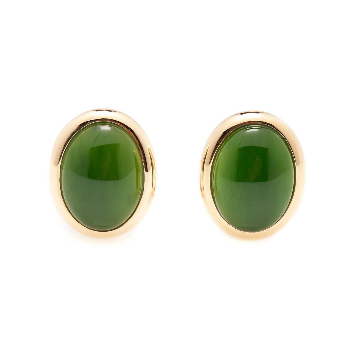 Gump's Green Nephrite Jade Earrings
