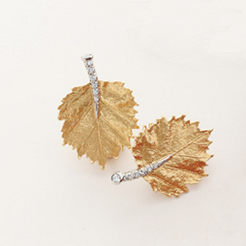 Aaron Henry Poplar Leaf Earrings
