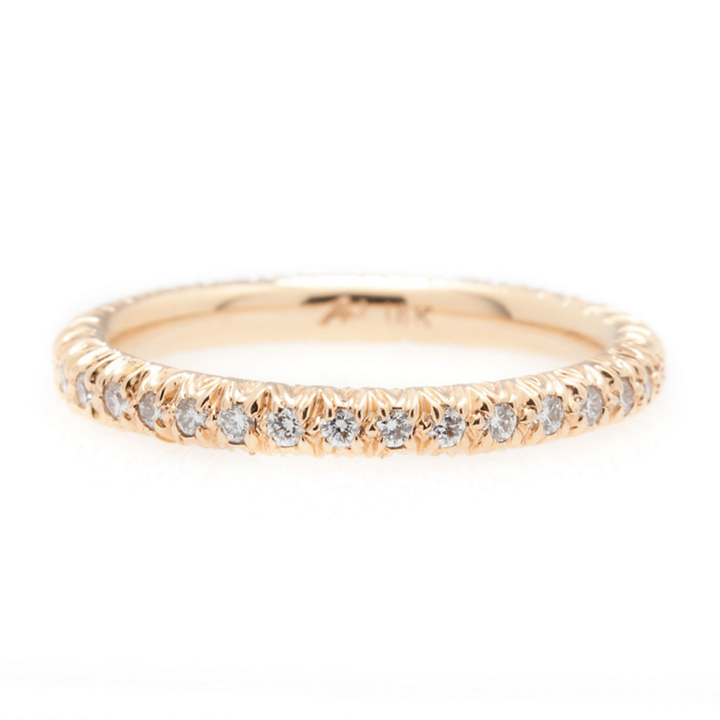 Aaron Henry Petite Arbor Rose Gold Eternity Ring