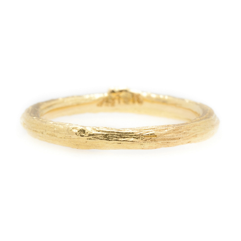 Aaron Henry Yellow Gold Olive Branch Ring