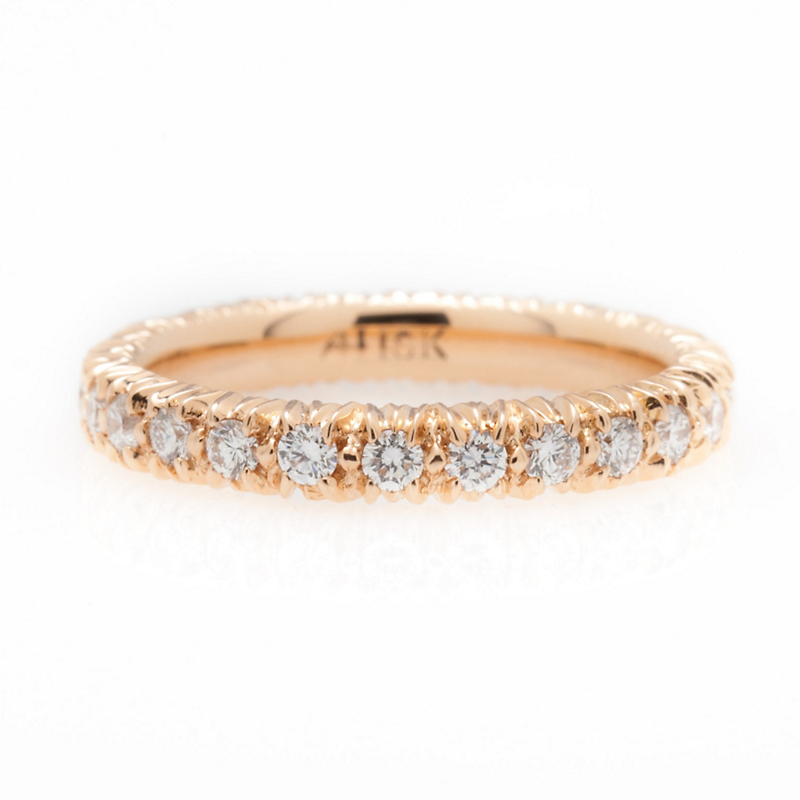 Aaron Henry Rose Gold Eternity Ring