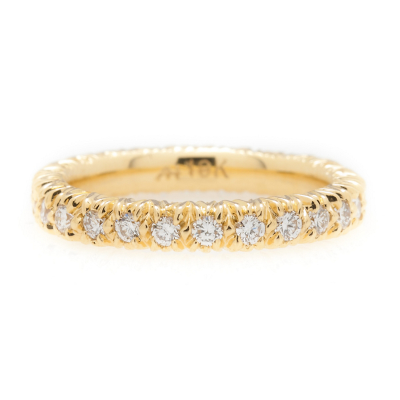 Aaron Henry Yellow Gold Eternity Ring