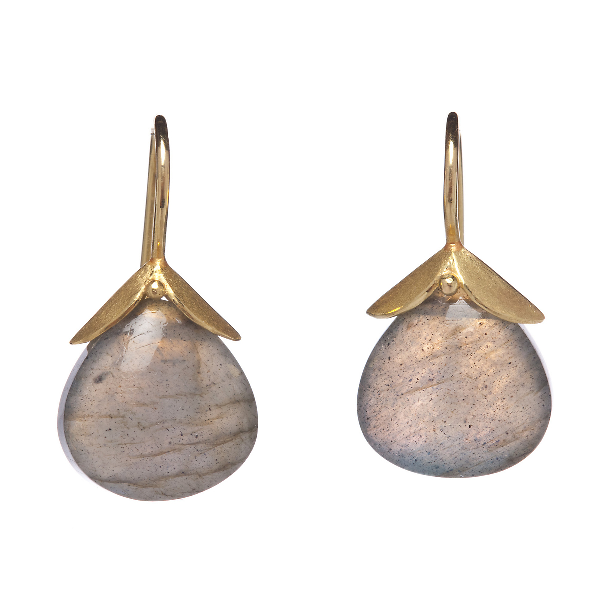 Barbara Heinrich Tulip Top Labradorite Drop Earrings