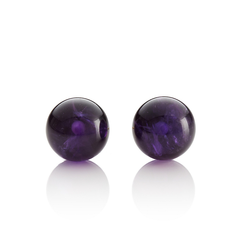 Gump's Amethyst Bead Earrings
