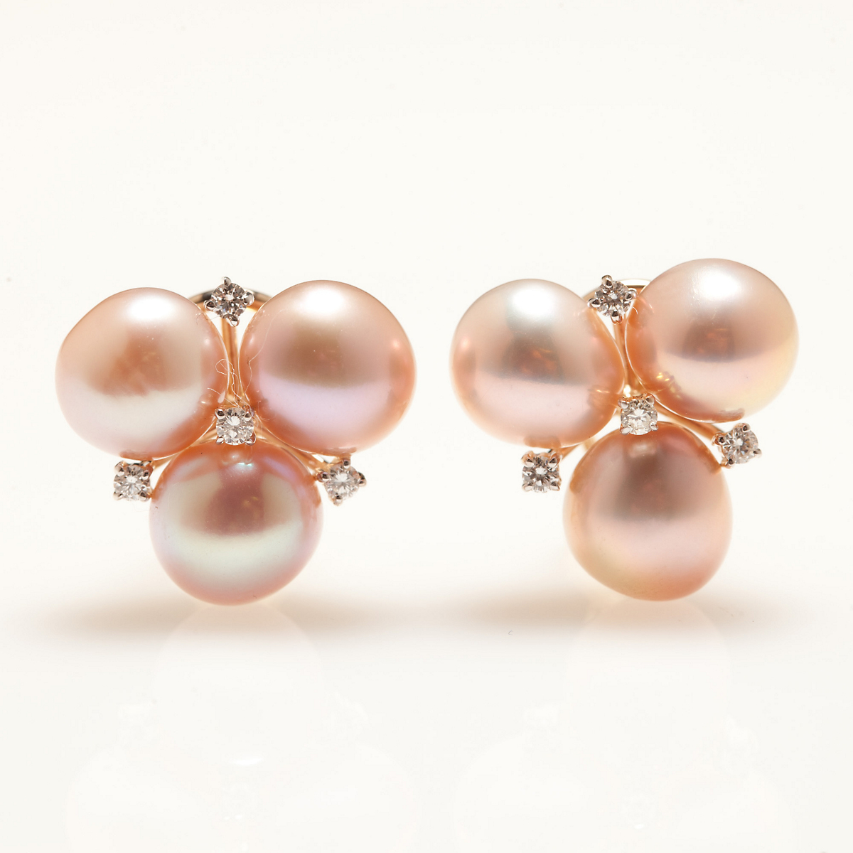 Gump's Freshwater Cultured Pearl Cluster Earrings
