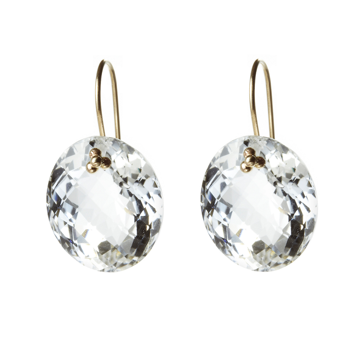 Nikki Baker Crystal Quartz Oval Drop Earrings