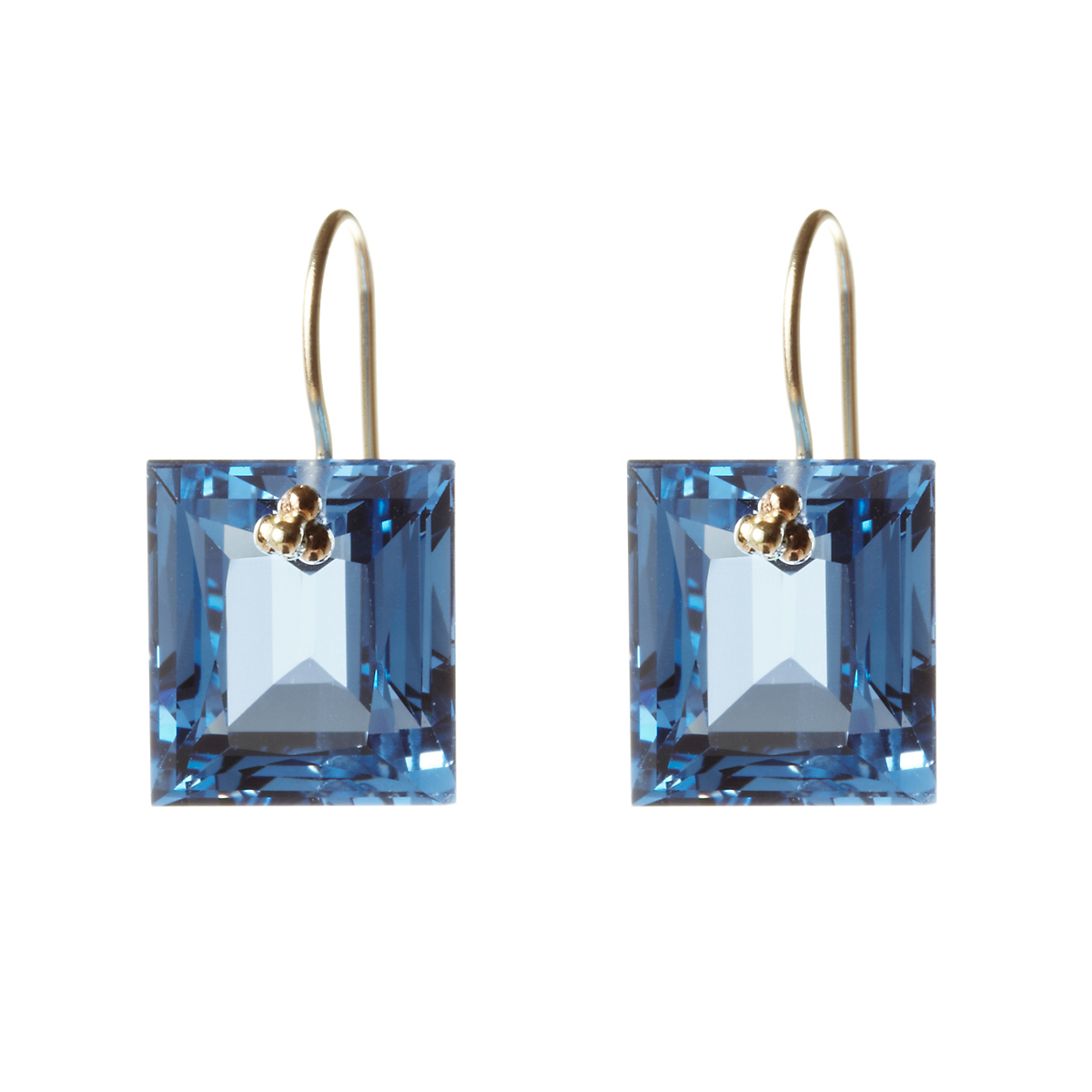 Nikki Baker London Blue Topaz Baguette Drop Earrings