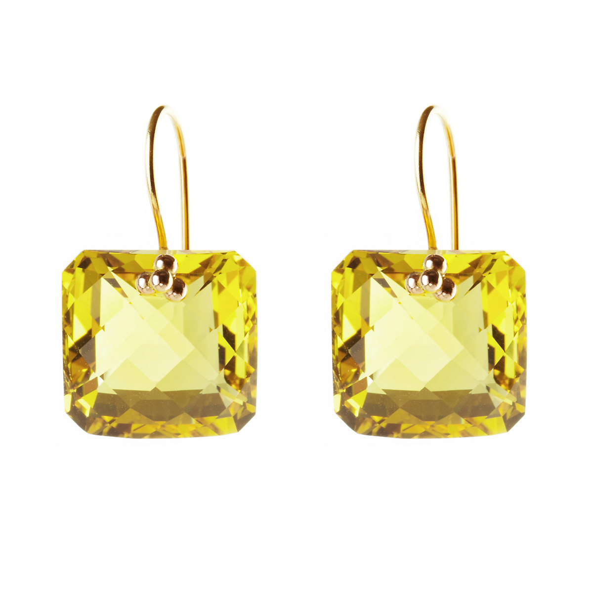 Nikki Baker Lemon Quartz Drop Earrings