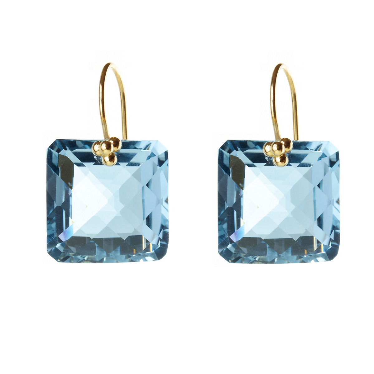 Nikki Baker Sky Blue Topaz Drop Earrings