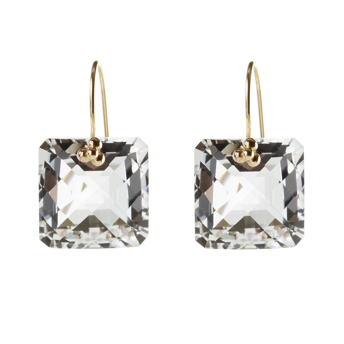 Nikki Baker White Quartz Drop Earrings