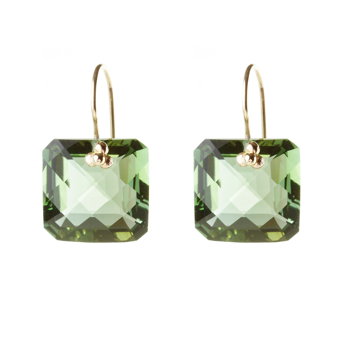 Nikki Baker Green Quartz Drop Earrings