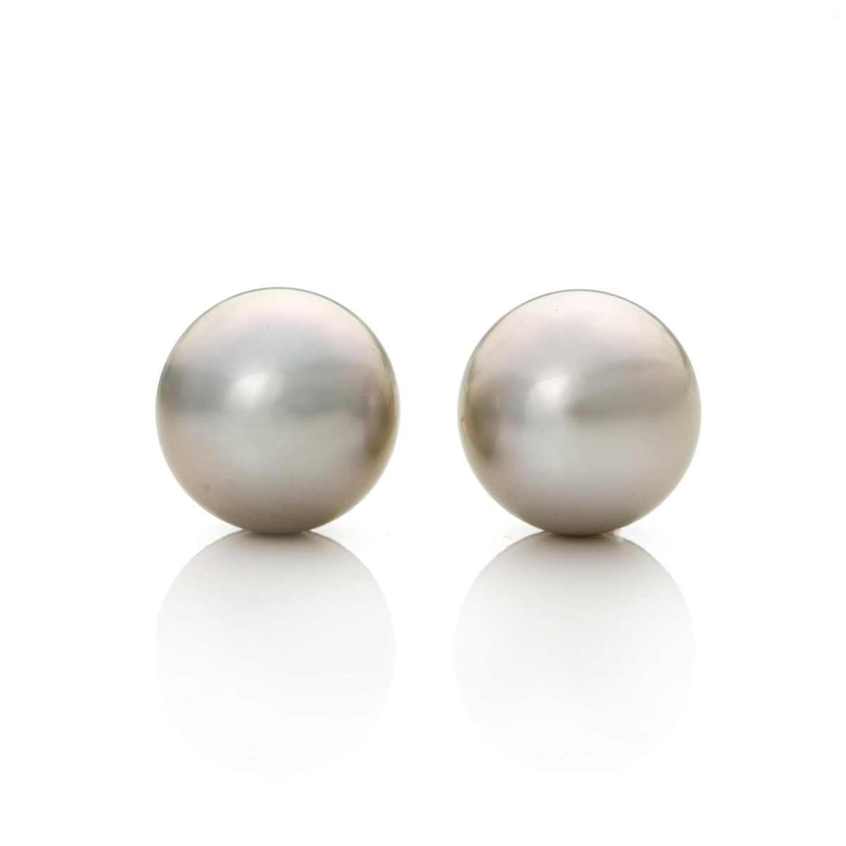 Gump's Grey Tahitian South Sea Cultured Pearl Earrings