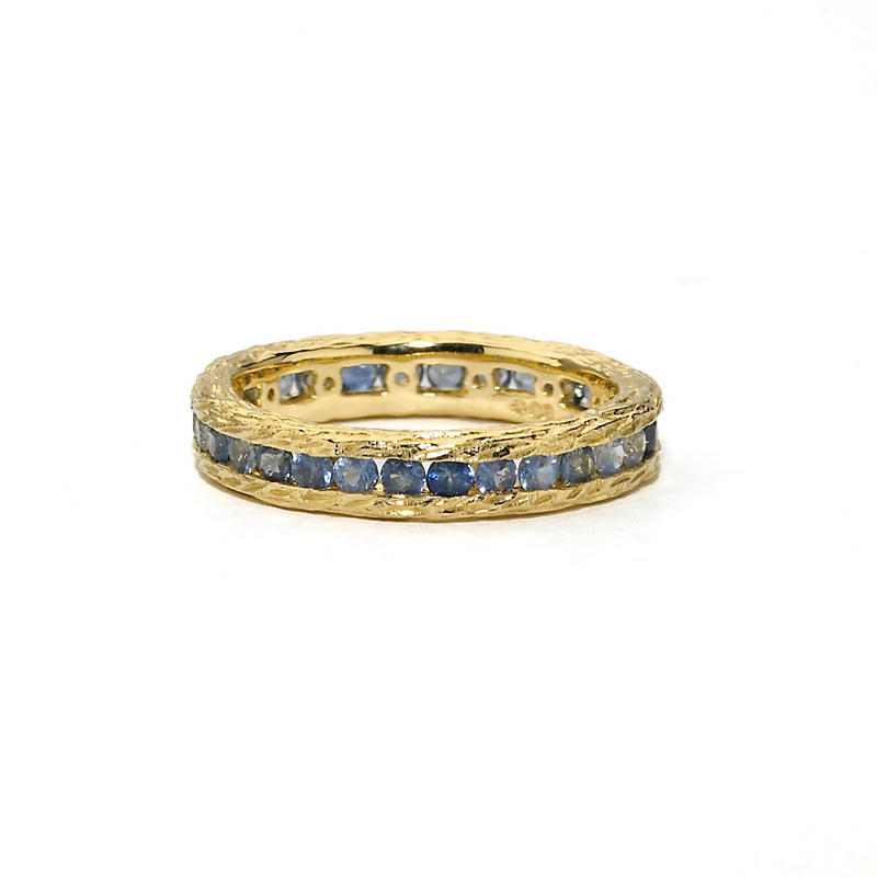 Elizabeth Showers Blue Sapphire Stacking Ring