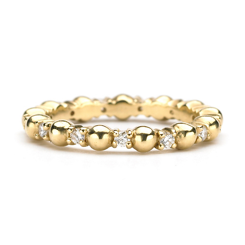 Elizabeth Showers Gold & Diamond Stacking Ring