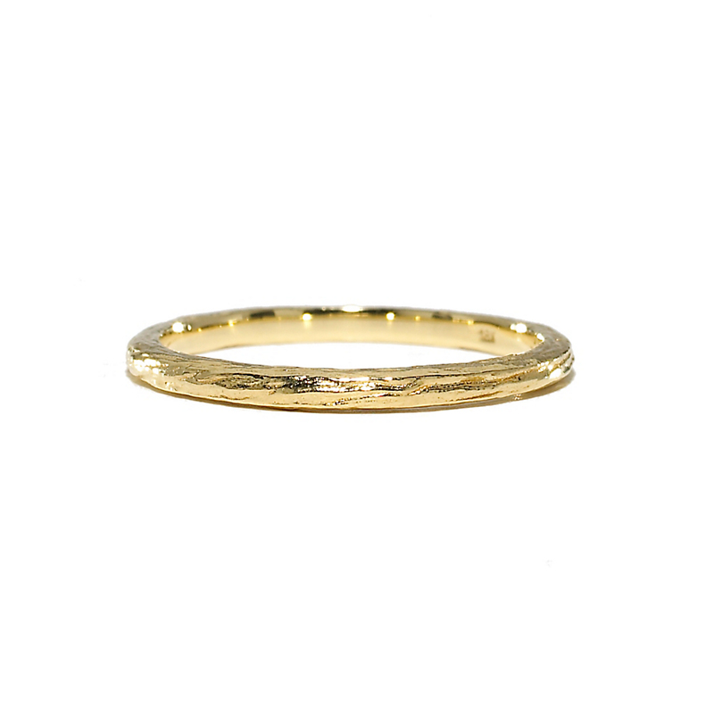 Elizabeth Showers Gold Simple Band Stacking Ring