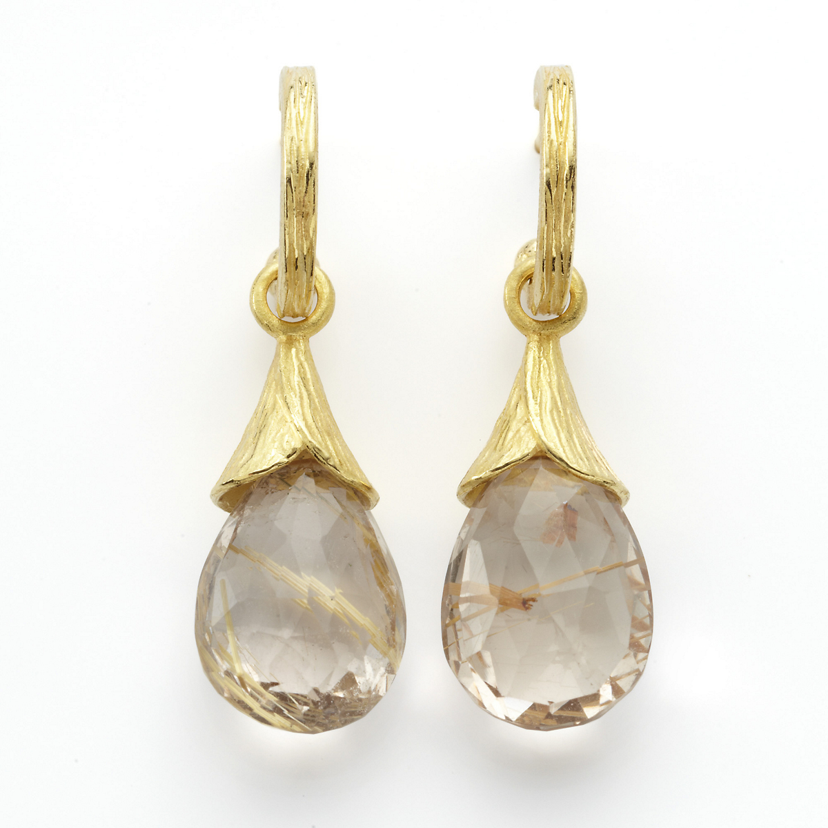 Barbara Heinrich Rutilated Quartz Earrings
