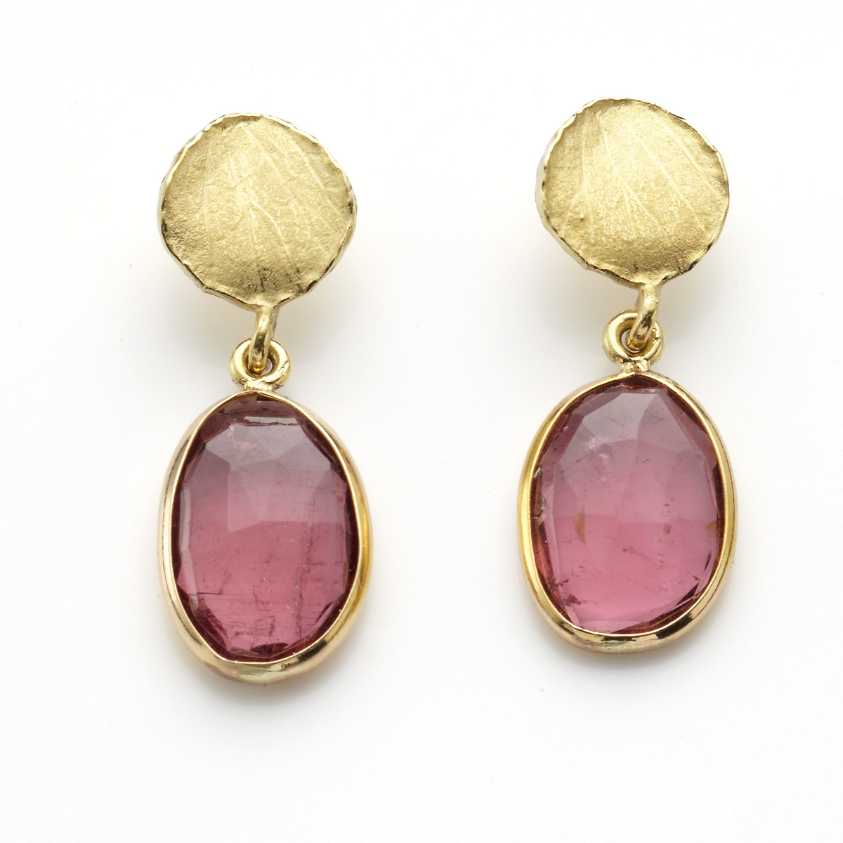 Barbara Heinrich Pink Tourmaline Petal Earrings