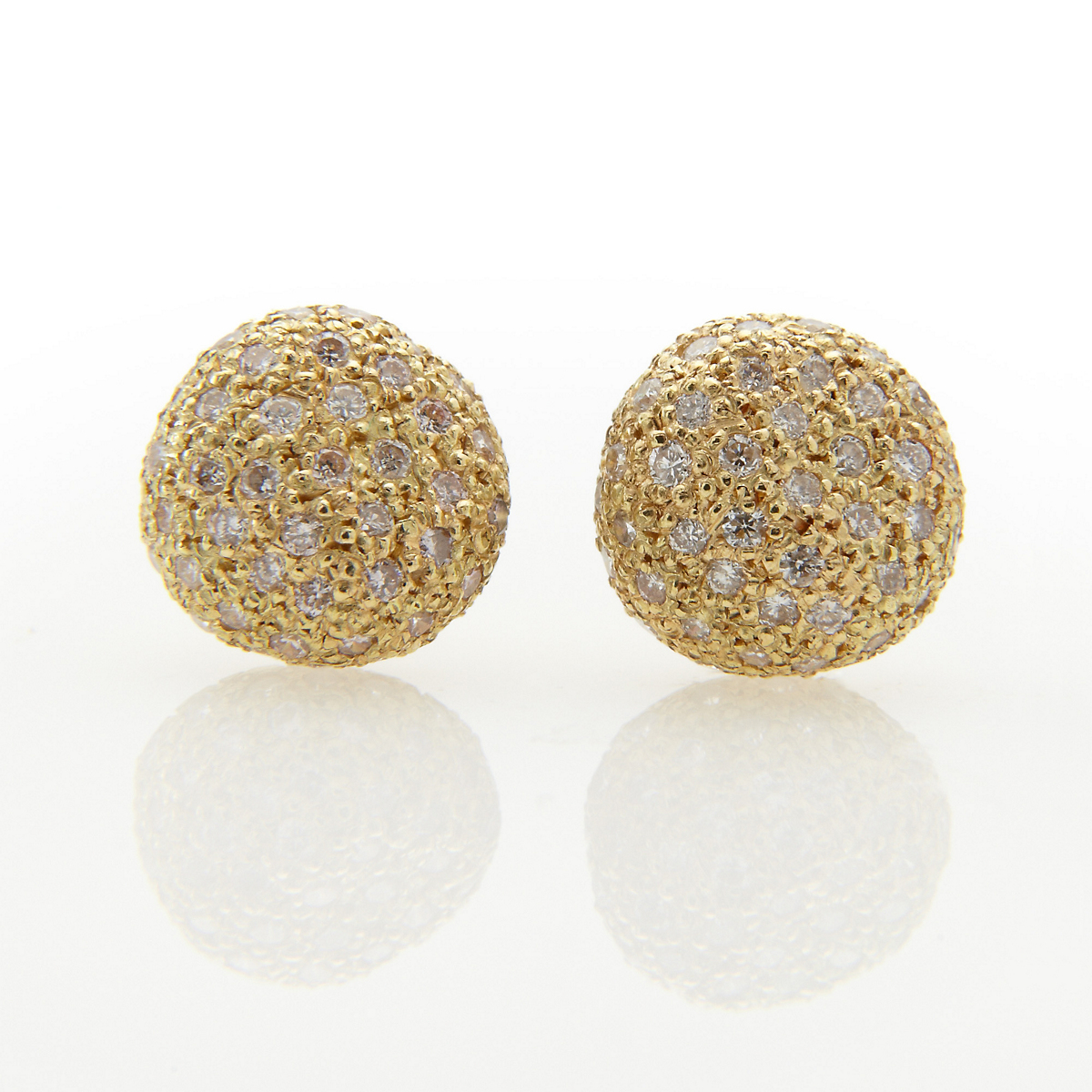 John Iversen Pave Diamond Bubble Earrings