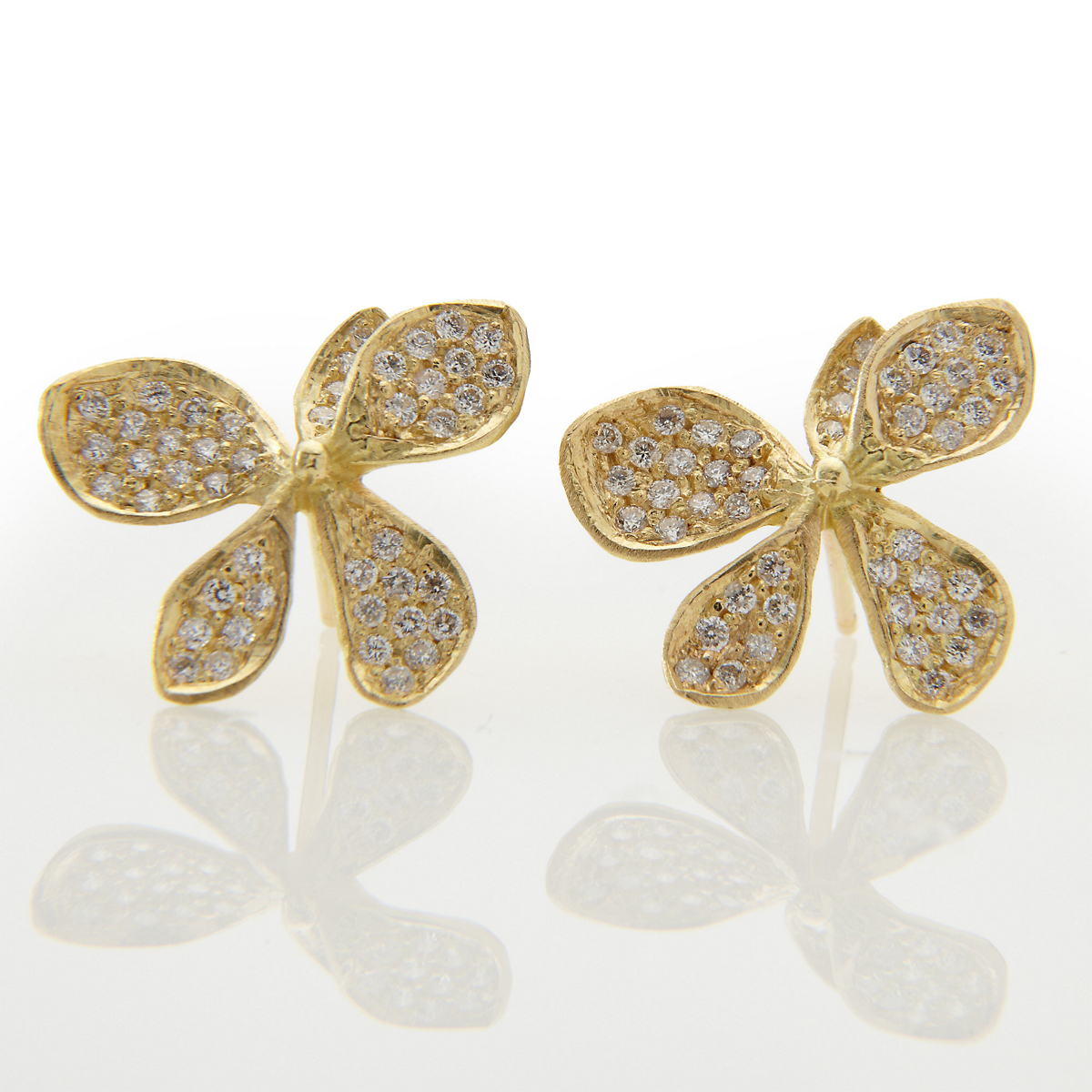 John Iversen Hydrangea Diamond Earrings