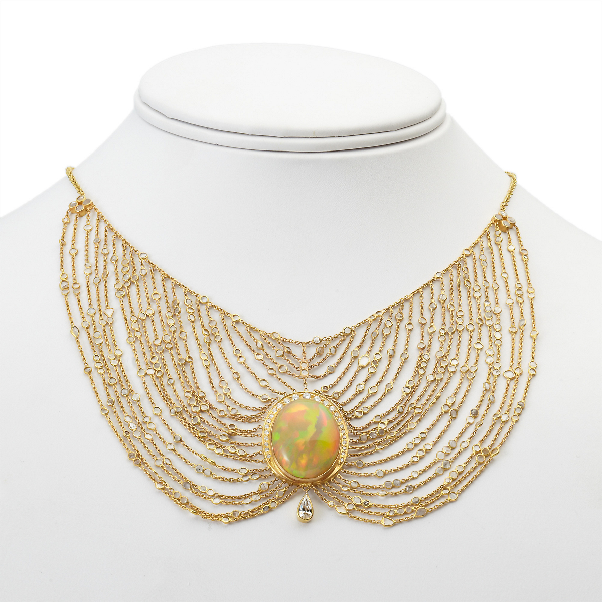 Kothari Opal & Diamond Necklace