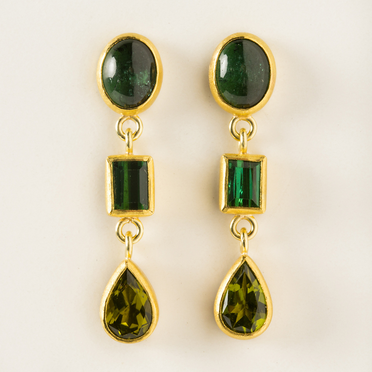 Petra Class Tourmaline & Emerald Wide Earrings