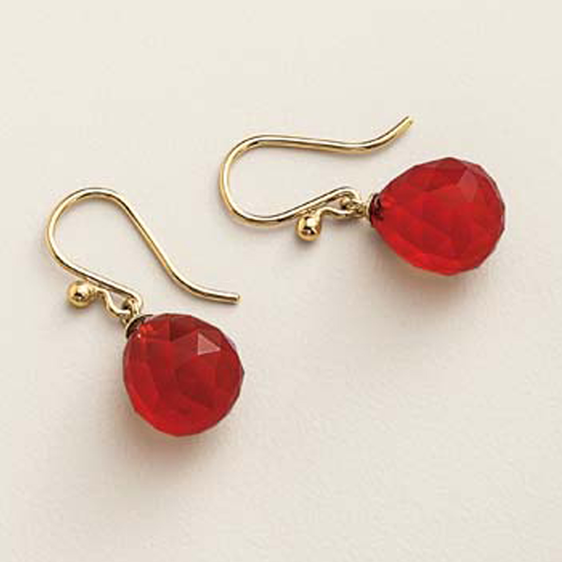 Gump's Faceted Carnelian Drop Earrings