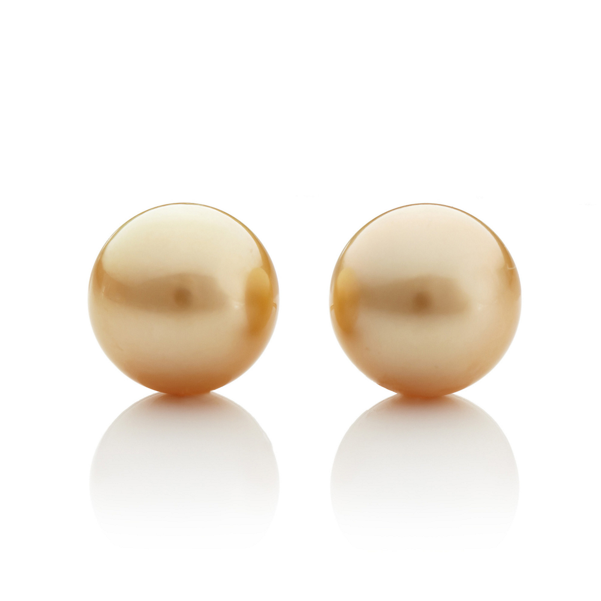 Gump's Golden South Sea Cultured Pearl Earrings