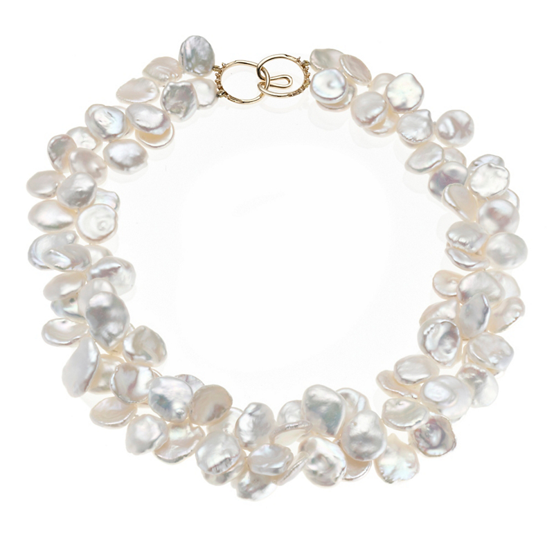 Gump's Freshwater Cultured Petal Pearl Necklace