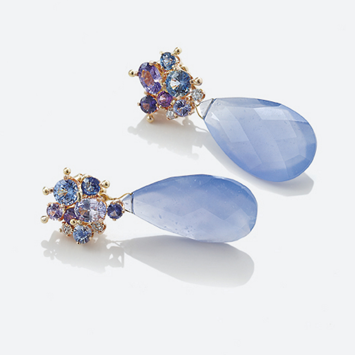 Russell Trusso Chalcedony Drop Earrings