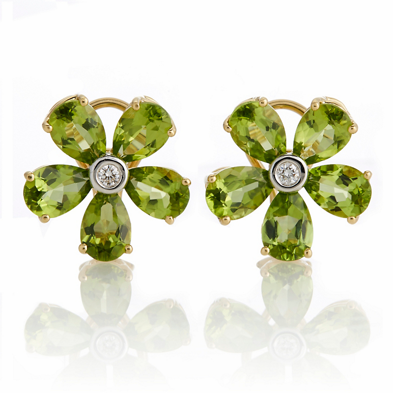 Aaron Henry Peridot Flower Earrings