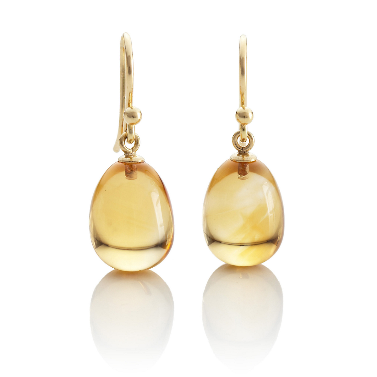 Gump's Citrine Drop Earrings