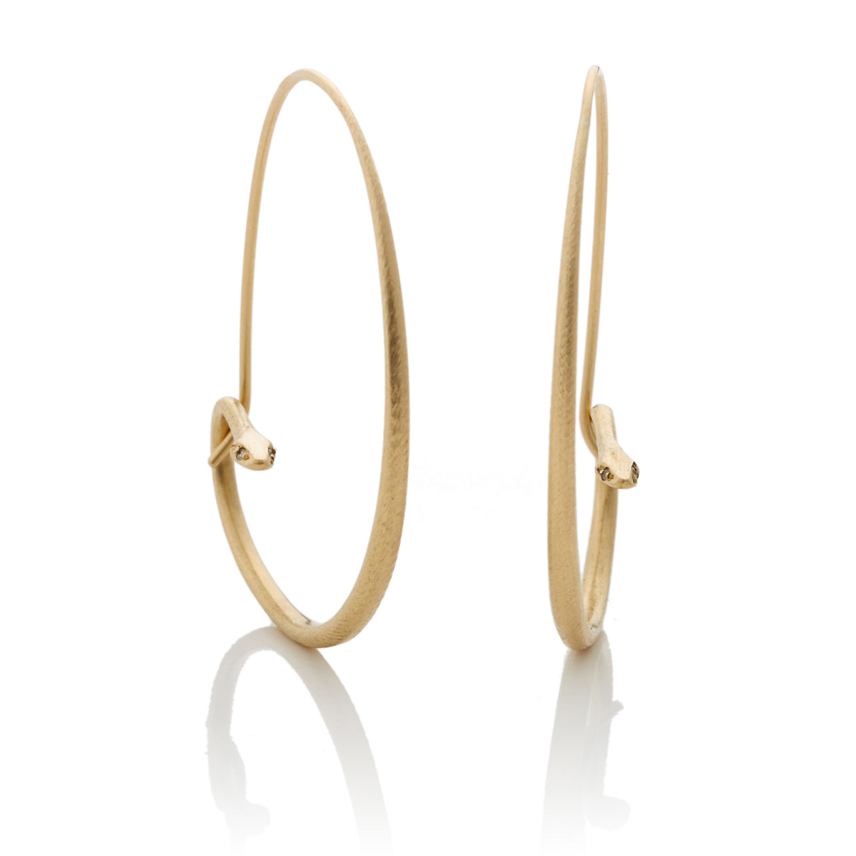 Gabriella Kiss Diamond Snake Eye Hoop Earrings