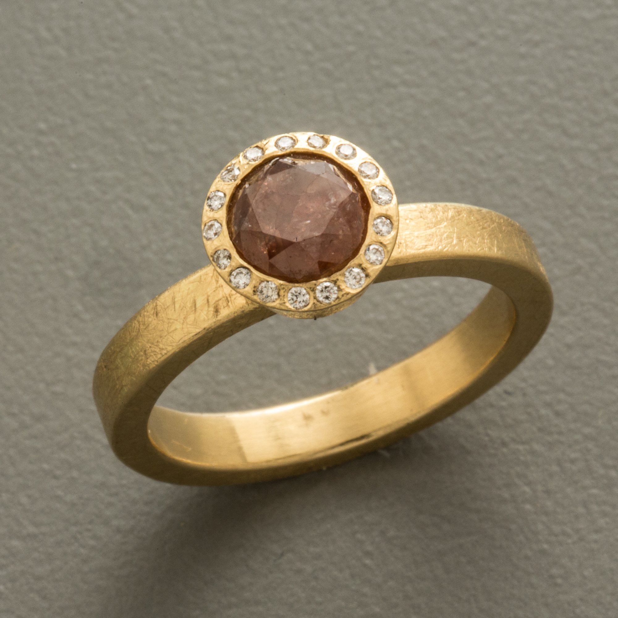 Todd Reed Round Red Diamond Ring