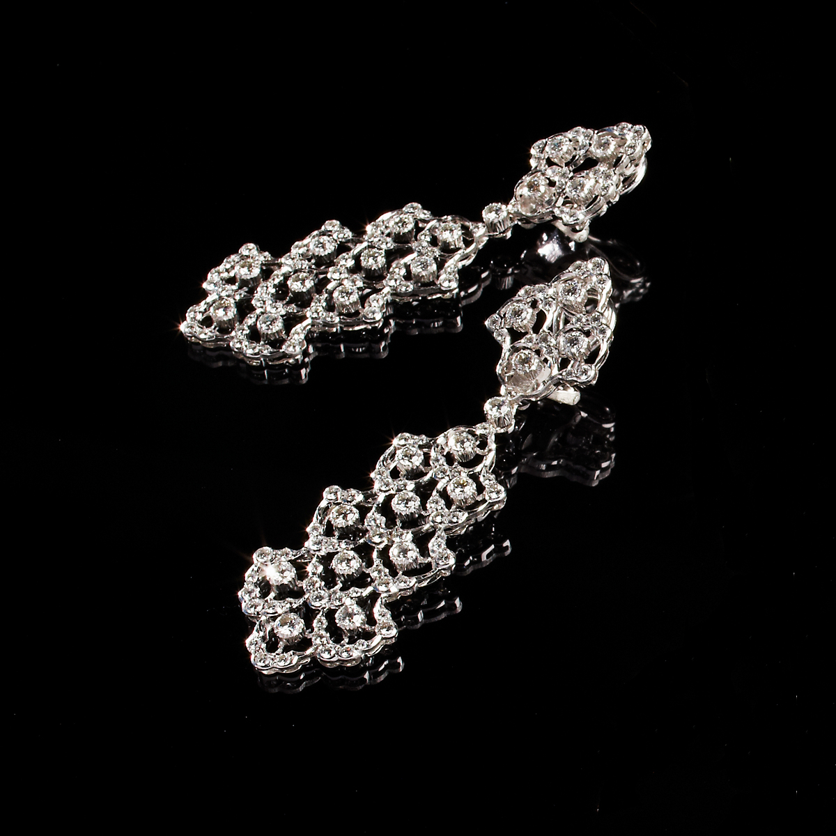 Buccellati Diamond Detachable Drop Earrings