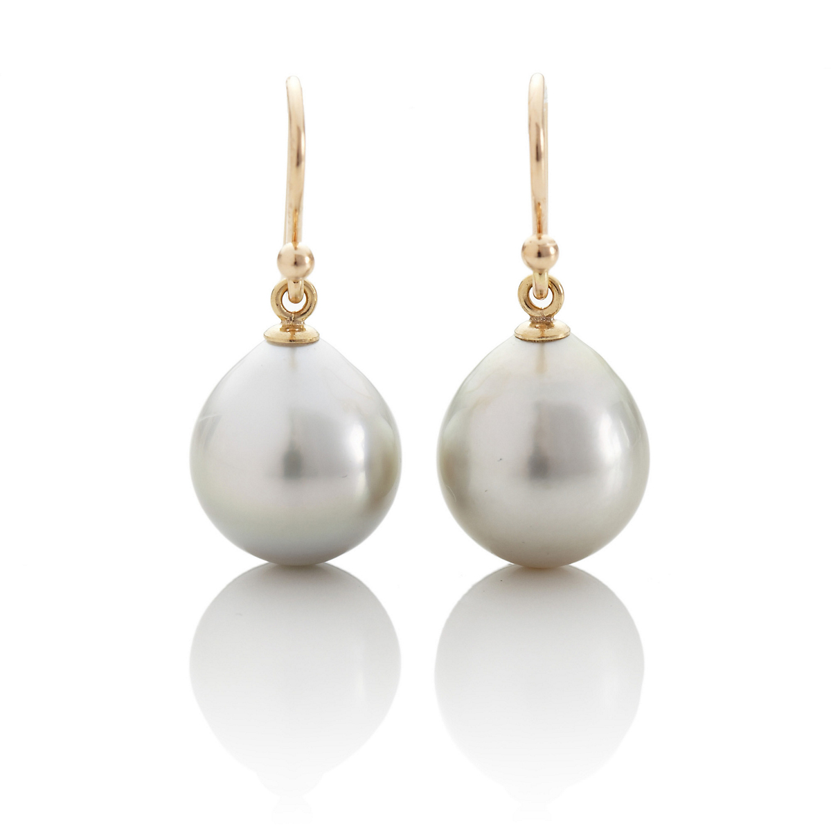 Gump's Gray Tahitian Pearl Drop Earrings