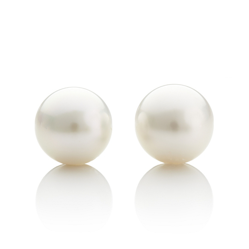 Gump's White South Sea Cultured Pearl Earrings
