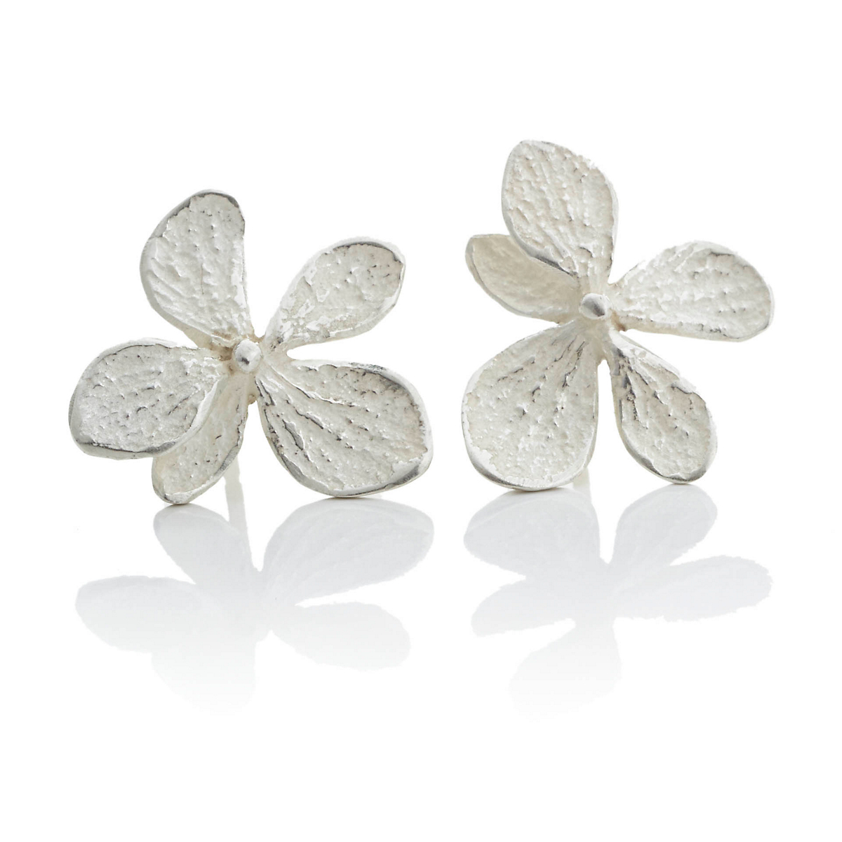 John Iversen Sterling Silver Hydrangea Earrings